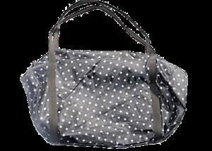 Bolsa negra con puntos blancos
