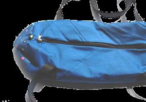 bolsa azul y lateral con puntos