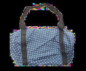 bolsa azul con puntos