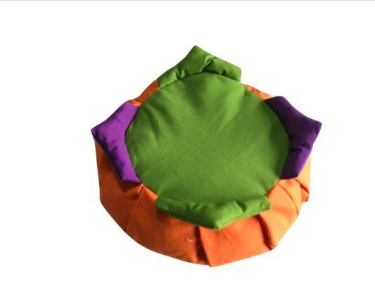 Zafú para niños naranja con 4 picos de colores