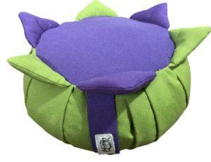 Zafu Eco Espelta para niños verde