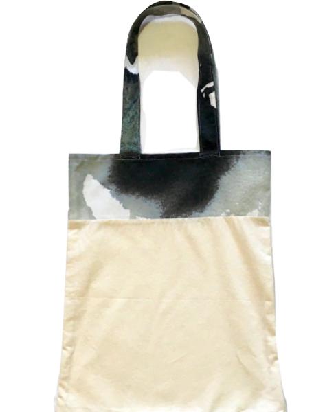 Bolsa para zafú bicolor con asas blancas y negras