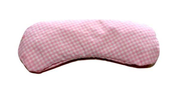 Almohadilla para los ojos con cuadros rosas y blancos
