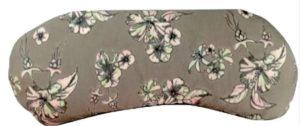 Almohadilla para los ojos gris con flores de colores