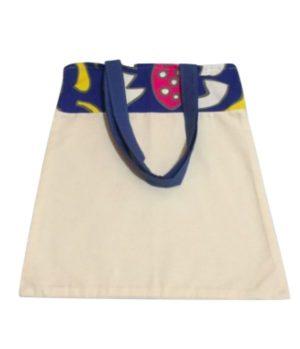 Bolsa para zafu bicolor con asas azules