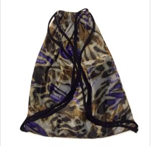 mochila para yoga con dibujos marrones