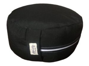 Zafu Eco Espelta con forma redonda negro